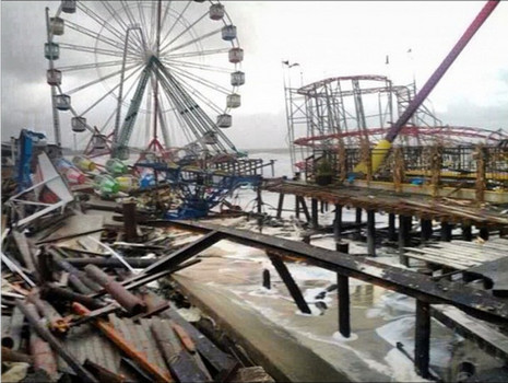 Coney Island Before And After Sandy