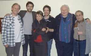 "Peter Davison, David Tennant, Paul McGann, Colin Baker and Sylvester McCoy are joined by Janet ""Tegan"" Fielding."