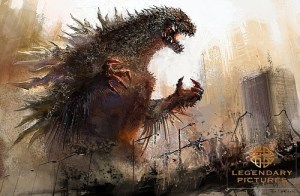 Concept art for the Godzilla reboot by Legendary