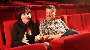 Caro Skinner with Steven Moffat
