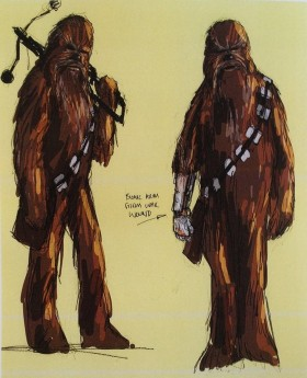 Chewbacca with cybernetic hand