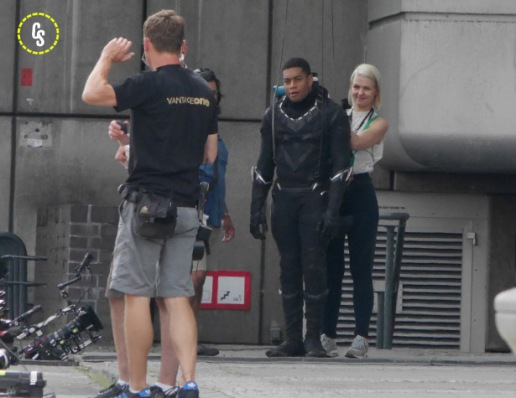 Chadwick Boseman's stunt double in the suit